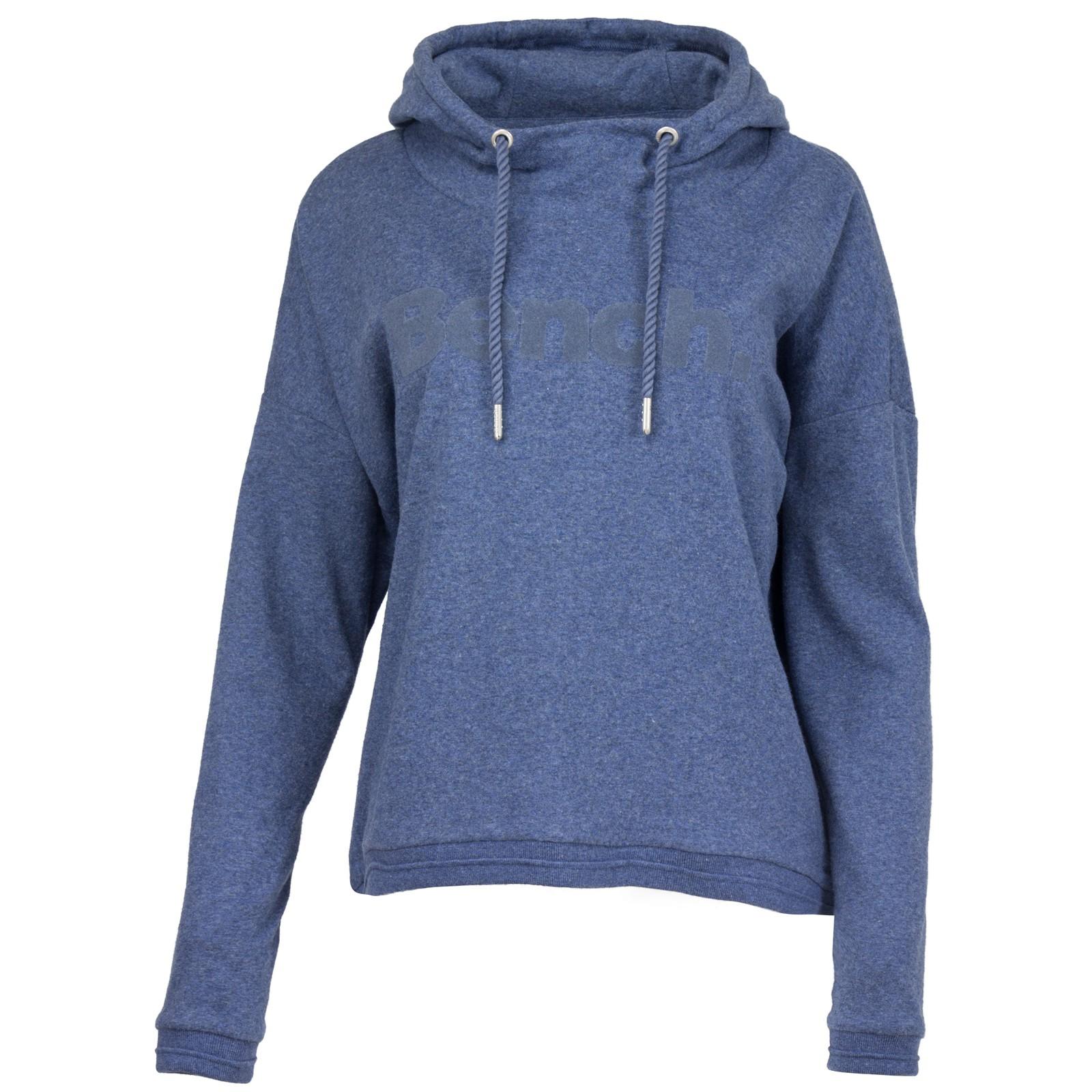 Bench. Damen Sweatshirt Sweater mit Kapuze Hoody Label Flock