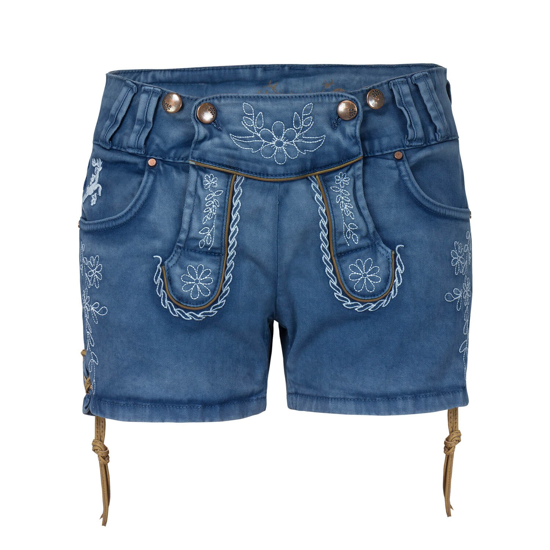 02f467c2a7333 Details zu hangOwear Damen Jeans Shorts Trachtenshorts Damenshorts Kurze  Hose Hotpants