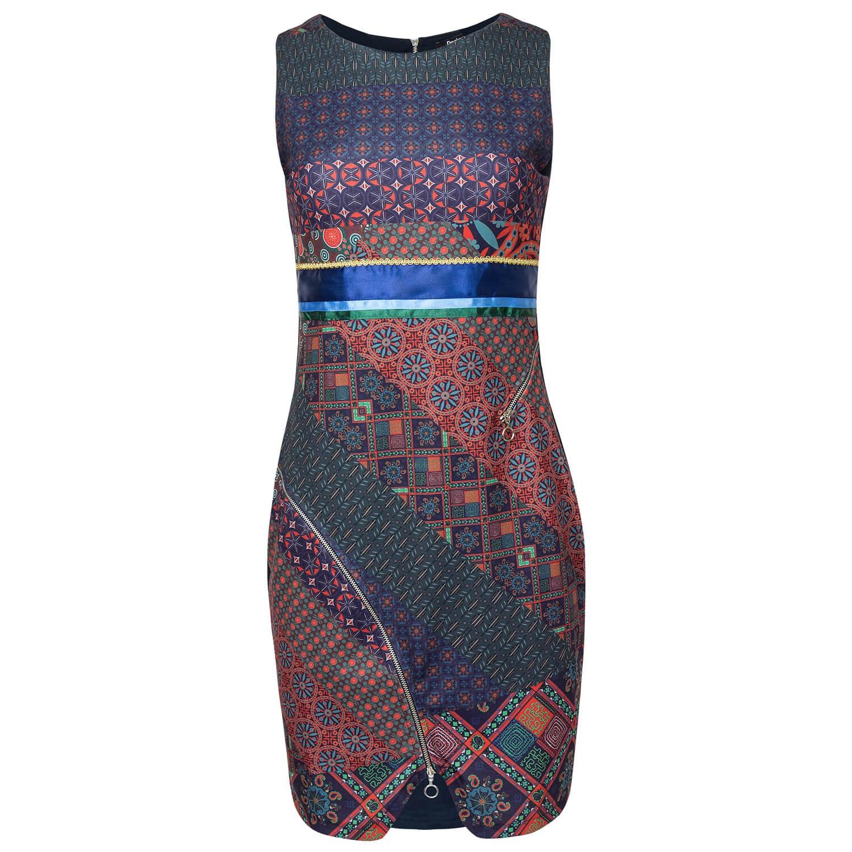 Desigual Kleid Etuikleid mit Reißverschluss-Detail allover ...